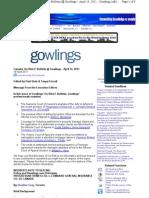 Mondaq - Construction Insurance - On-Risk E-Bulletin @ Gowlings - Gowling Lafleur Henderson LLP, Canada (19!04!2011)