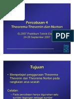 Percobaan 4 Theorema Thevenin Dan Norton