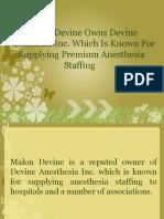 Dr. Malon Devine