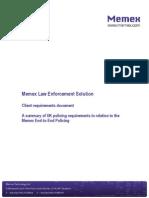 Memex Law Enforcement Solution