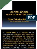 CAPITAL SOCIAL QUÉ ES Y PARA QUÉ SIRVE