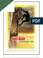 Aarohan - Rotaract Club of IMNU  Newsletter March 2011