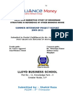 Project Report-Reliance money