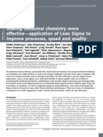 Making medicinal chemistry more effective—application of Lean Sigma to improve processes, speed and quality