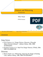 Design Patterns and Re Factoring Introduction