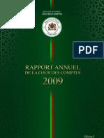 Rapport de la Cour des Comptes Maroc 2009 Volume 1