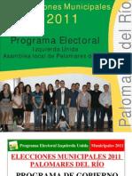 Programa Electoral IU - Elecciones Municipales 2011