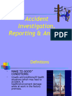 Accident Reporting ,Investigation & Analysis (CIF&B)