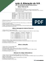 Alteração IVA ER-280,ER-285M,ER-52xx,ER-390M & ER-380
