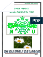Dalil Amalan Warga Nu