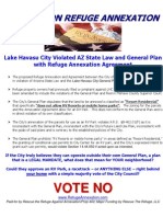 Lake Havasu City Violated AZ State Law and General Plan with Refuge Annexation Agreement