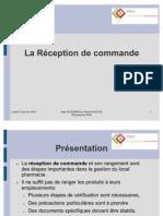 Formation 5 - Réception de commande