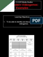 Lesson 1 - PoMo Videogame Examples