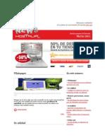 HostaliaNews de Marzo 2011. VPS, Dominios, alojamiento web, tiendas online y servidores dedicados.
