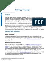 OWL 2 Web Ontology Language Profiles