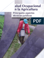 Salud Ocupacional en la Agricultura.  Principales aspectos técnico jurídicos.