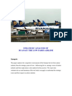swot analysis of ryanair holdings plc Holdings plc, a sportswear clothing company in 2014  21 ryanair swot  analysis – michael o'leary's maniacal focus on being the lowest cost producer.