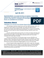 ValuEngine.com Universe Overvaluation Figures Reaching Critical Levels