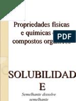 Propriedade físicas e químicas dos compostos orgânicos
