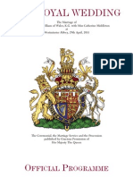 The Royal Wedding Official Program