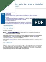 Alinhamentos, estilo das fontes e tabulações horizontais (réguas) nos docume