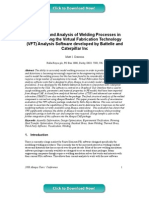 Modelling and Analysis of Welding Processes in Abaqus using the Virtual Fabrication Technology (VFT) Analysis Software developed by Battelle and Caterpillar Inc
