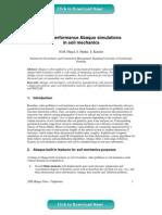 High-performance Abaqus simulations in soil mechanics