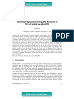 Nonlinear Dynamic Earthquake Analysis of Skyscrapers by ABAQUS