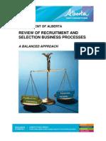 Execsumm Review Recruitment Selection Process