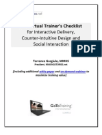 The Virtual Trainer Checklist for Interactive Delivery