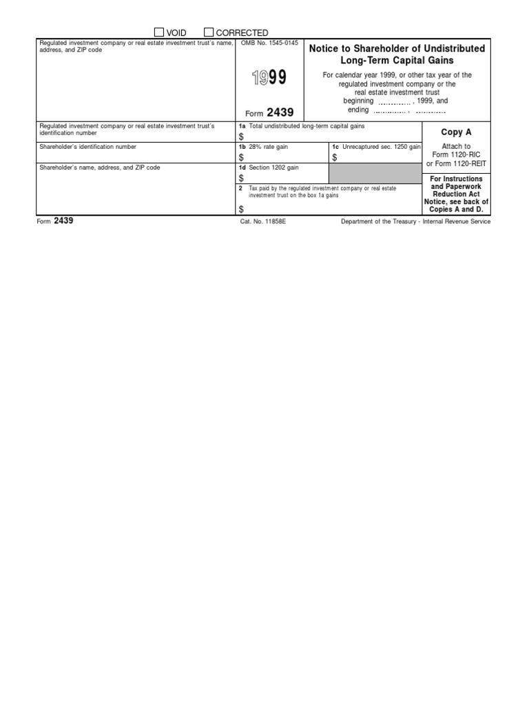 US Internal Revenue Service: f2439--1999 | Individual