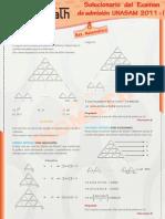 Solucionario Razonamiento Matematico UNASAM 2011 - I