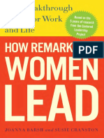 How Remarkable Women Lead by Joanna Barsh, Susie Cranston and Geoffrey Lewis - Excerpt