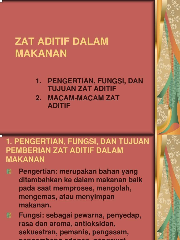 Zat Aditif Dalam Makanan PDF