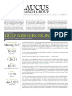 GlaucusResearch Gulf Resources GFRE Strong Sell April 26 2011