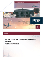 Flex and Derate Takeoff and Climb