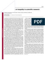 The Importance of Stupidity in Scientific Research