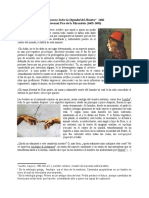 ANÁLISIS DE FUENTE. Discurso sobre la dignidad del hombre. Pico della Mirandola