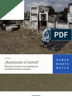 Obstáculos a la Justicia en las Investigaciones de la mafia Paramilitar en Colombia