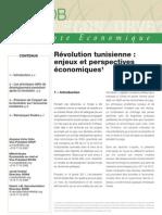 Révolution tunisienne  enjeux et perspectives économiques