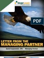 Letter From The Managing Partner  - Nov 2010