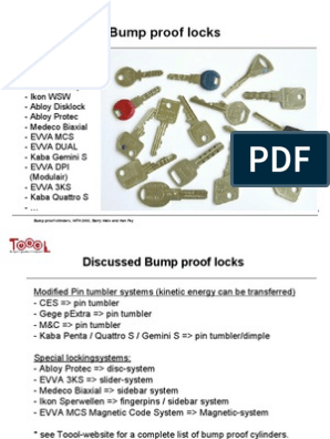 Locks Bump Key Present a Tie   Security Engineering   Security