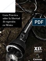 Guia Practica Sobre La Libertad de Expresion en Mexico