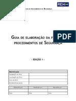 Guia de Elaboração da Ficha de Procedimento de Segurança