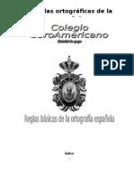REGLAS ORTOGRÁFICAS DE LA LENGUA ESPAÑOLA