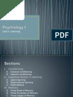 Psych I - Unit II