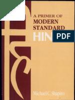 A Primer of Modern Standard Hindi Escrito Por Michael C. Shapiro