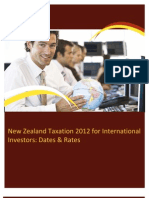 New Zealand Taxation 2012