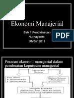 Bab 1 Pendahuluan Ekonomi Manajerial
