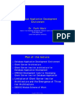 W01 Two Tier Database Development